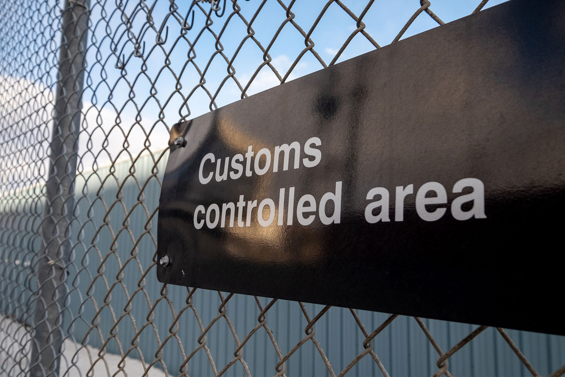 Customs controlled area board